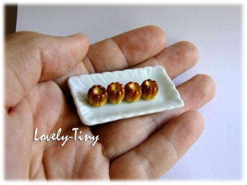 50 pcs.Dollhouse miniature French Canneles 2 tones