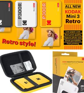 Kodak Mini 3 Retro Printer Digital Camera Real Photo Paper Sheets Bundle GIFT