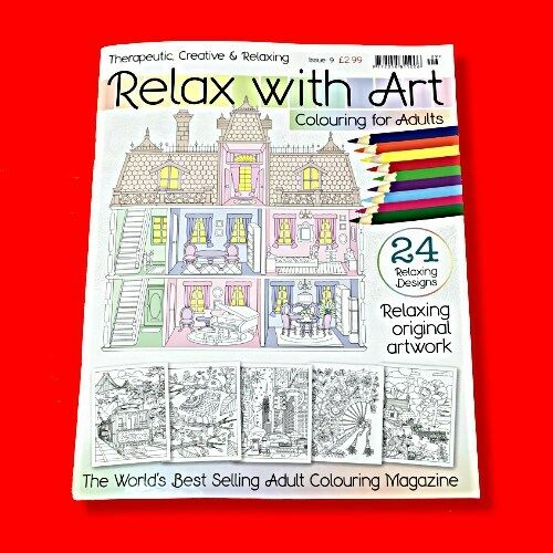 Just Colour For Adults Relaxing Therapy Colouring Book Stress Relieving Issue 3