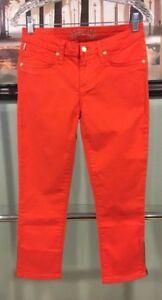 Robin's Orange Taglia Capris autentiche Red Taglia Nuove Pants 28 Jean donne qAEP4P