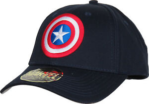 Image is loading Captain-America-Marvel-Comics-Adjustable-Cap 6936051e26d5