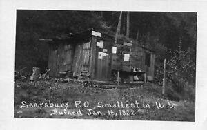 Map usa photo card searsburg smallest in u. s. burned jan 16 1922