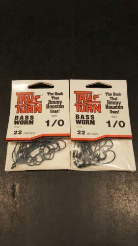 2 Packs 22 Bass Worm 077Z Size 1//0 Qty Tru-Turn