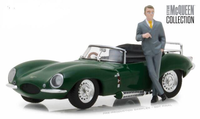 1956 Jaguar XKSS with Steve McQueen Figure Model Car 1:43 Scale Greenlight