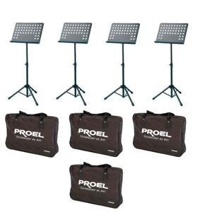 PROEL-RSM360M-kit-risparmio-con-4-leggii-per-spartiti-4-borse-per-contenerli