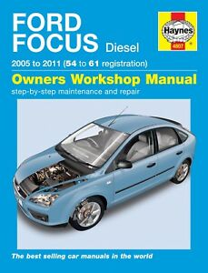 haynes manual 4807 ford focus 1 6tdci 1 8tdci 2 0tdci diesel 2005 rh ebay co uk 2007 Ford Focus Maintenance Schedule 2007 Ford Focus Manual Book