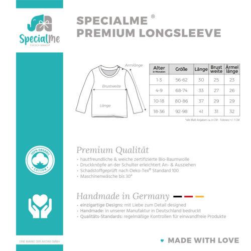 Baby Langarmshirt mit Namen personalisiert Regenbogen Scandi Stil Mädchen