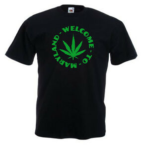 T-shirt-noir-enfant-manches-courtes-Fruit-Of-The-Loom-WELCOME-TO-MARYLAND
