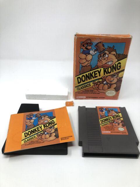 Donkey Kong Classics NES With Manual NINTENDO VINTAGE ORIGINAL WORKING