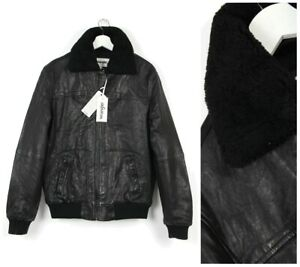 374fed8d3 Details about WRANGLER LAMB LEATHER SHERPA JACKET LINED REAL SHEARLING  COLLAR S/M/L/XL/XXL