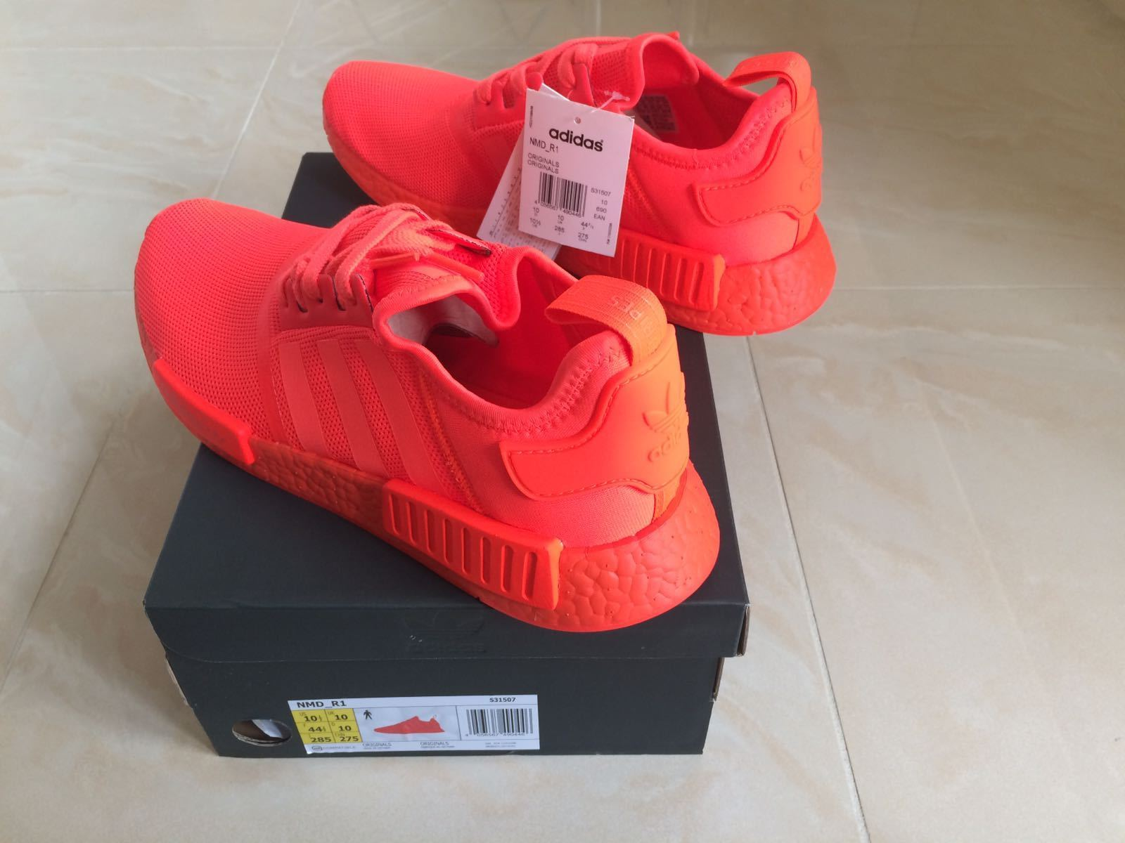 ADIDAS NMD R1 RUNNER TRIPLE SOLAR RED SIZE UK 6 NEW