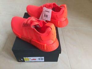 15d9865f59d9 Image is loading ADIDAS-NMD-R1-RUNNER-TRIPLE-SOLAR-RED-SIZE-