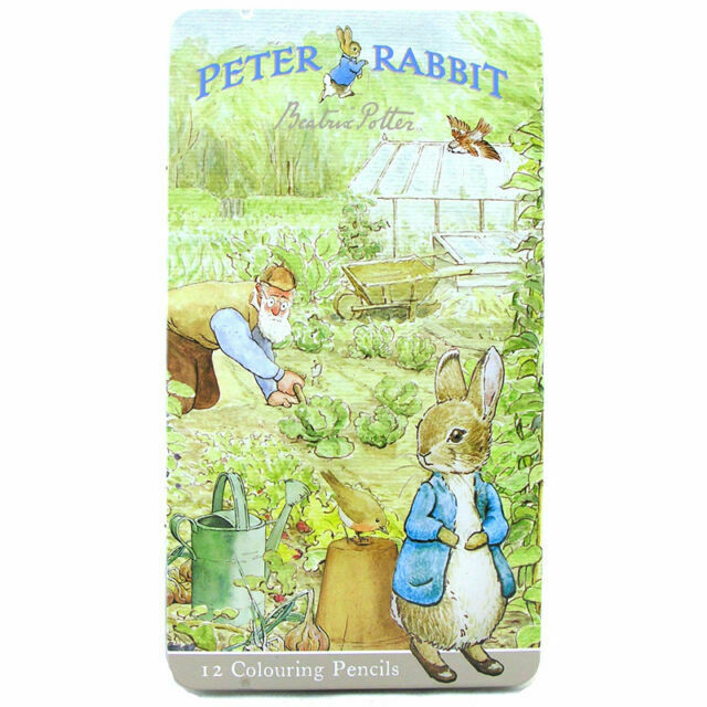 Beatrix Potter Peter Rabbit 12 Colouring Pencils in Stationary Tin