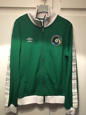 k50 *M* Retro New York Cosmos Umbro Zip Green Jacket