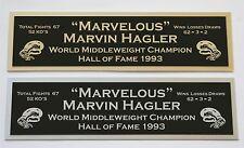 Marvin Hagler nameplate for signed boxing gloves trunks photo or case