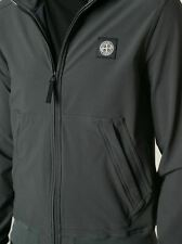 Stone Island Soft Shell Lightweight Jacket In Anthracite BNWT