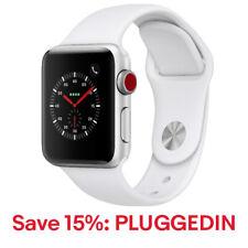 Apple Watch Gen 3 Series 3 Cell 38mm Silver Aluminum - White Sport Band