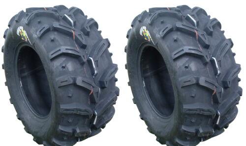 Pair 2 Deestone Swamp Witch 25x10-12 ATV Tire Set 25x10x12 D932 25-10-12