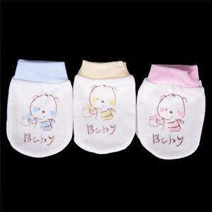 Recién nacido bebé suave algodón guardamanos anti arañazos mitones guantes