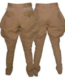 Mens Black Jodhpurs Breeches Pants Equestrian Pants Horse Riding Sports Breeches Polo Pants Baggy Pants