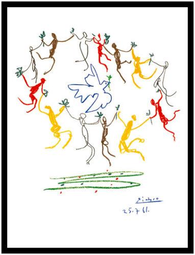 Pablo Picasso La Ronde de la Jeunesse Poster Kunstdruck im Alu Rahmen 80x60cm