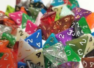 100-Wiz-Dice-D4-Random-Color-Polyhedral-Dice-Set-4-Sided-Lot-Gaming-D-amp-D-RPG