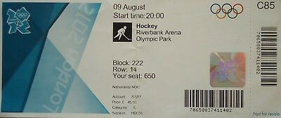 London 2012 Olympic Memorabilia Punctual Ticket Olympics 9/8/2012 Men's Hockey Great Britain Vs Netherlands # C85 Bright In Colour