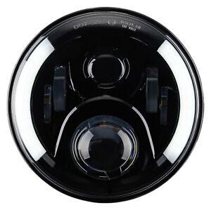 LED-Scheinwerfer-Abblendlicht-Fernlicht-Standlicht-7-Zoll-fuer-VW-Caddy-Golf-1-2