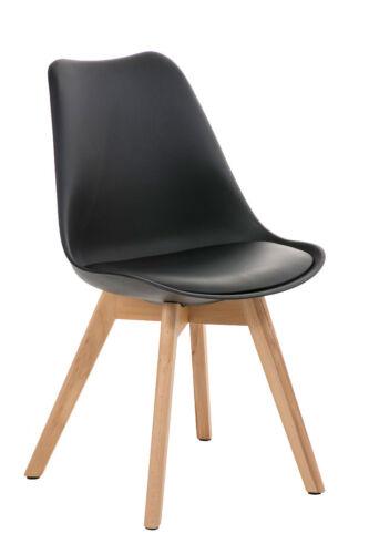 Besucherstuhl BORNEO natura mit Lehne Loft Konferenzstuhl Lounge Retro Stuhl