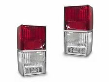 DEPO 84-96 Jeep Cherokee XJ Euro Style Red/Clear Rear Tail Lights Left+Right 4x4
