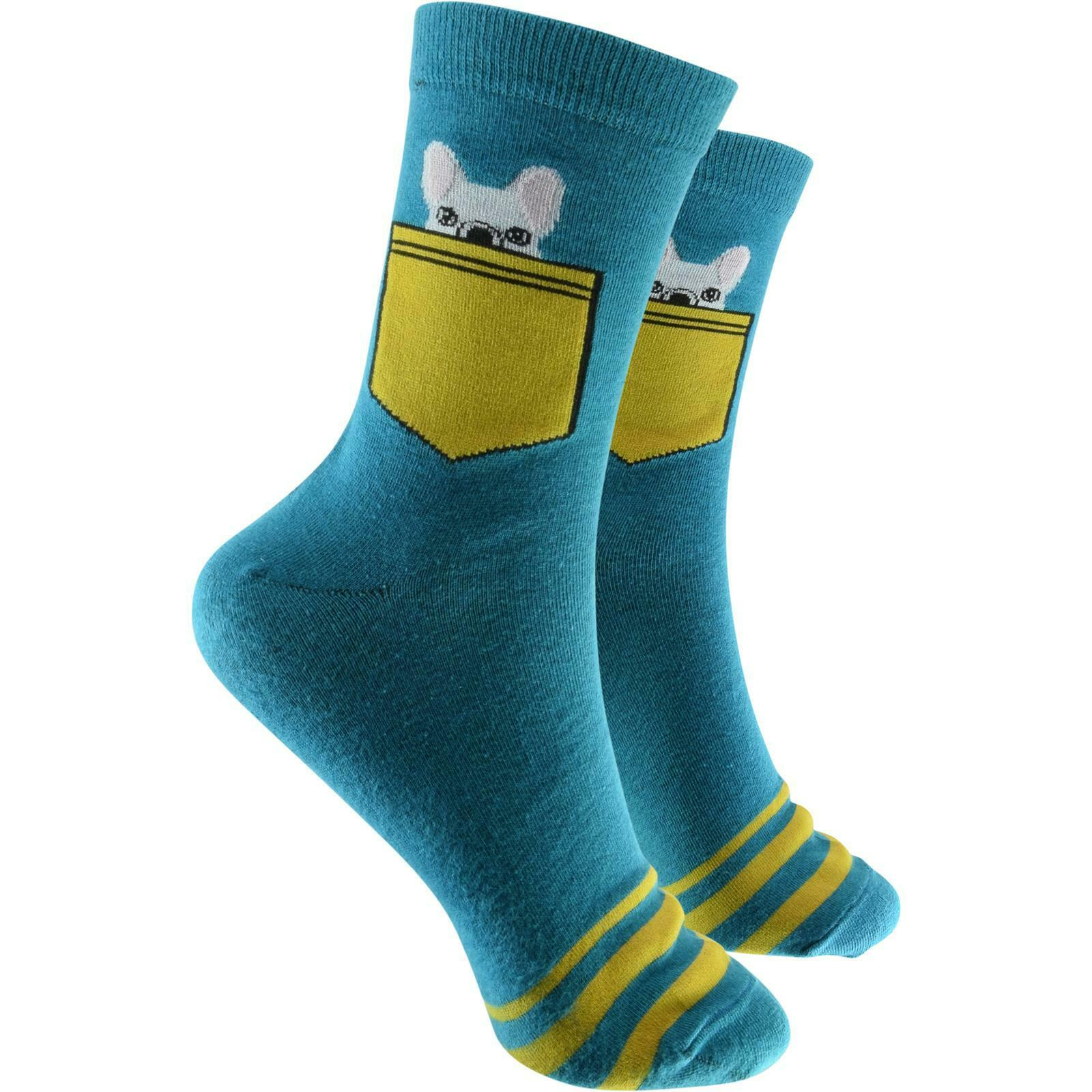 cosey dünne Socken – Bulldogge türkis 40-45 2 Paar Baumwolle atmungsaktiv weich