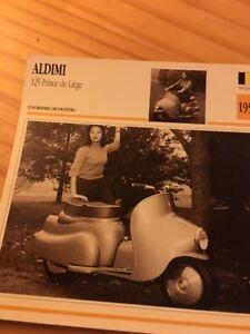 ALDIMI-125-Prince-Cork-scooter-1953-Card-motorrad-Collection-Atlas