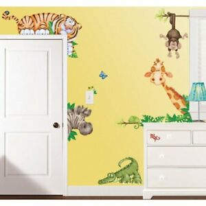 In The Jungle Wildlife Animal Stickers Wall Decals Ideal ...