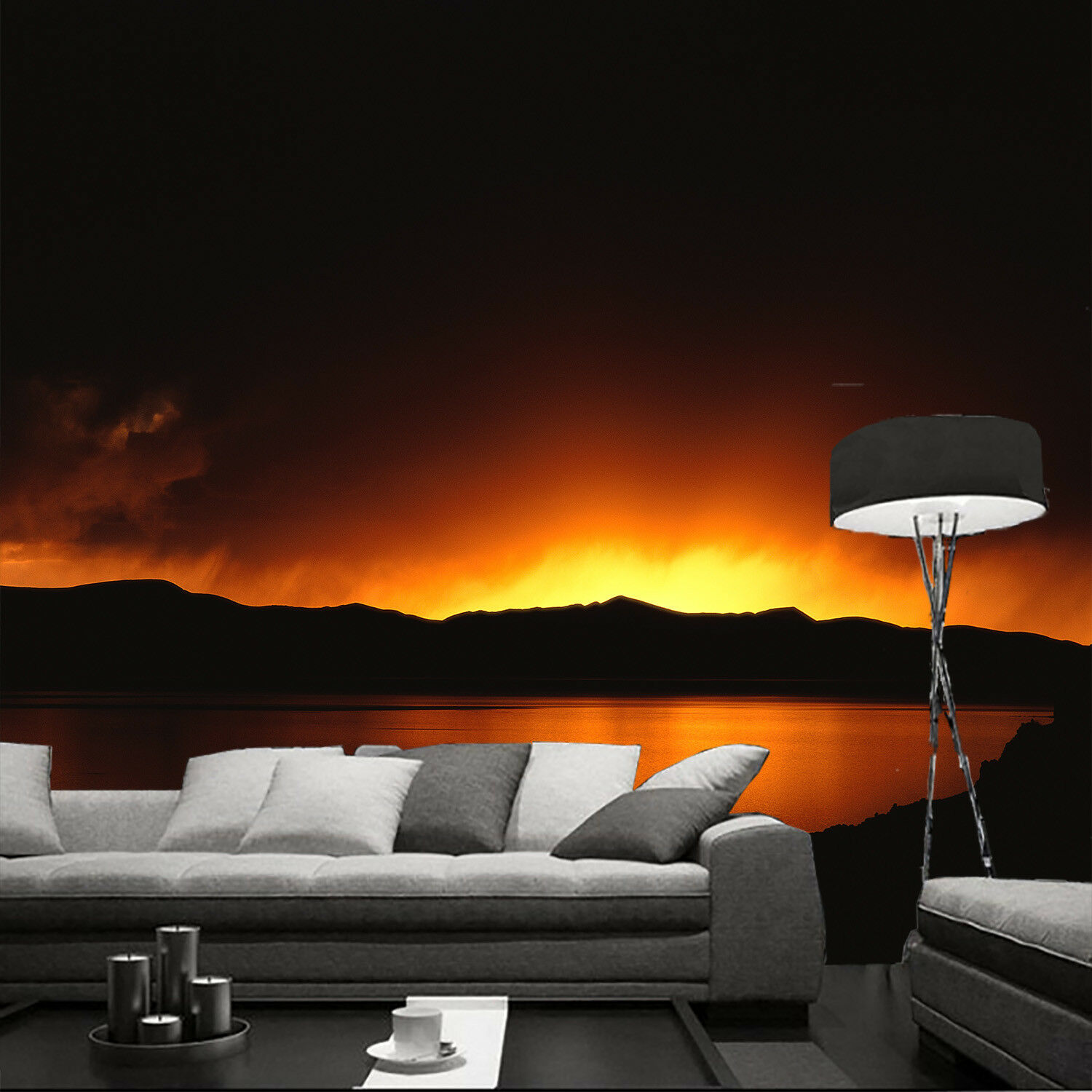 3D Sunset Sky 402 Wallpaper Murals Wall Print Wall Mural AJ WALL AU Summer