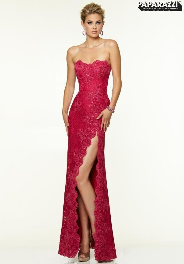398 NWT MAGENTA MORI LEE PAPARAZZI PROM PAGEANT FORMAL DRESS GOWN SZ 18