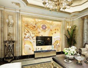 3D gold Vines 674 Wallpaper Murals Wall Print Wallpaper Mural AJ WALL AU Lemon