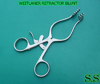 "2 WEITLANER RETRACTOR BLUNT 5.5""SURGICAL ENT INSTRUMENTS"