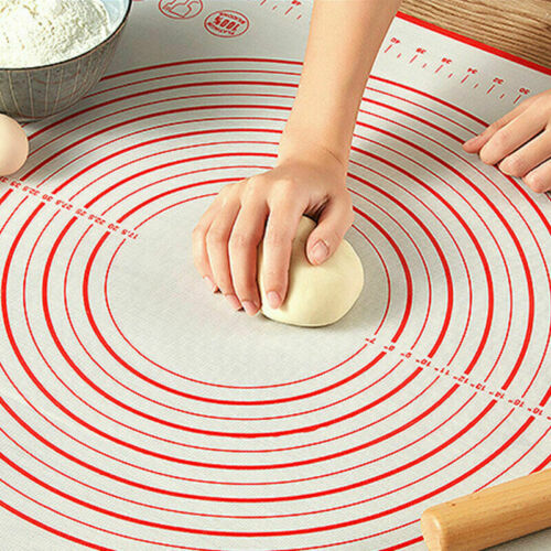 Non Stick Silicone Baking Mat Kneading Rolling Dough Pad Sheet Kitchen Tools #G