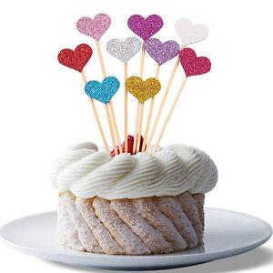 10 Stk Geburtstag Cupcake Toppers Liebe Herz Topper Party Kinder