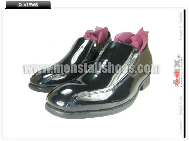 Height Increasing Tuxedo chaussures With Hidden Heels for Groom, 3  taller JTX012