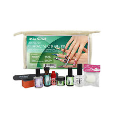 Mia Secret Brush-on Clear Acrylic & Gel Kit UV Powder Prep Primer Top Coat Glue