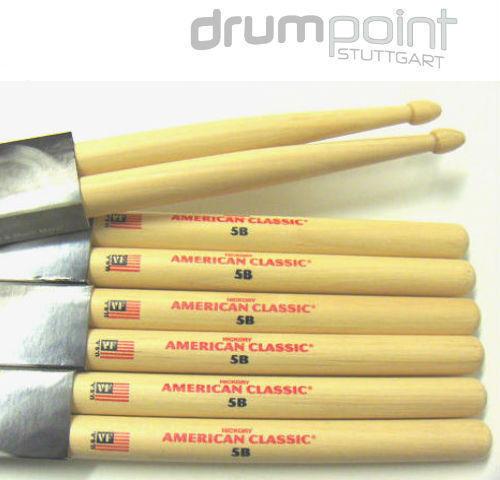 3 Paar Vic Firth 5B  American Classic Sticks Drumsticks   *PAKETPREIS*