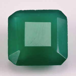 Chalcedony 3.09ct. An apple green gemstone. Possibly dyed, but with a good cut.