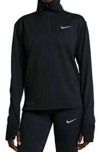 928753-010 Original Nike Women's Therma Sphere Element 1/2-zip Black Running Pullover Activewear Tops