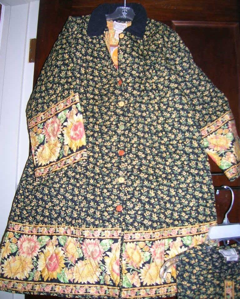 April Cornell (TN-O.) ~ Art to Wear ~ Manteau long à manches longues en tournesol pour fille