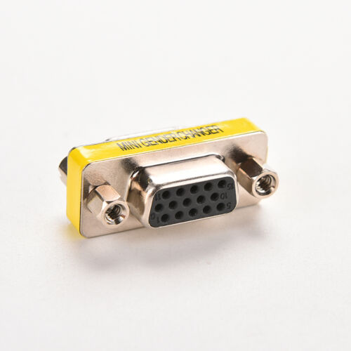 15 pin D-Sub VGA SVGA MINI Gender Changer Adapter Connector M//M F//F M//F HD15 WB