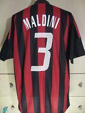 PAOLO MALDINI AC MILAN ITALY CALCIO 2002 03 ADIDAS VTG FOOTBALL SHIRT MAGLIA L