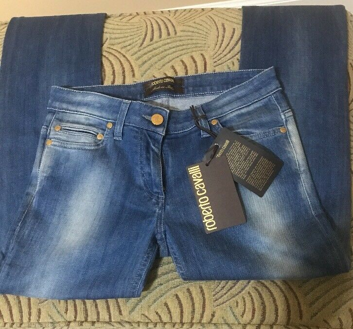 Roberto Cavalli Woman's Jean. New With Tags. Made in .  Size