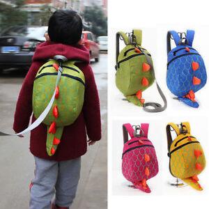 15e1f71b8734 Image is loading Toddler-Kids-Boys-Girls-Dinosaur-Harness-Leash-Backpack-