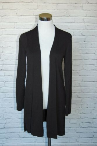 Fisher Ribbed Sm Crepe Sort uld åben Size sweater Eileen 37 vaskbar cardigan Td4UTwqg